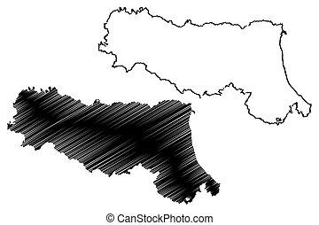 Emilia-Romagna map - Emilia-Romagna (Autonomous region of...