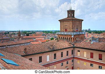emilia-romagna., este, castle., ferrara., italy.