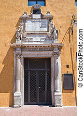 emilia-romagna., italy., estense, ferrara., entrance., ホール