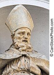 emilia-romagna., parma., s., italy., lucia, statue., church...