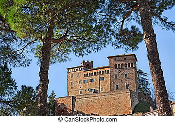 emilia-romagna romagna, 中世, malatesta, 城, italy:, longiano, forli-cesena