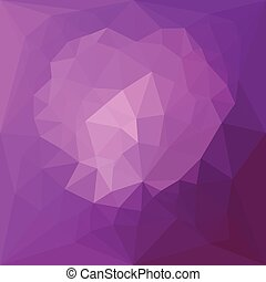Eminence Violet Abstract Low Polygon Background - Low...