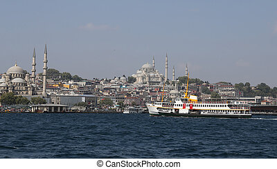 Eminonu and Fatih district in Istanbul City, Turkey