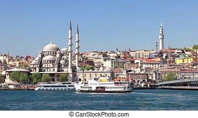 Eminonu Harbor, Istanbul, Turkey. - Eminonu Harbor,...