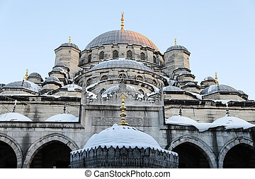 Eminonu New Mosque in Istanbul City, Turkey