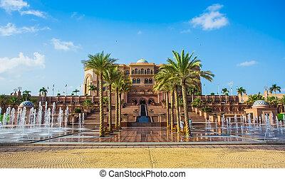 emirátusok, palota, alatt, abu, dhab