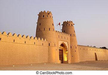 emirate, dhabi, jahili, al, abu, ain, fortaleza