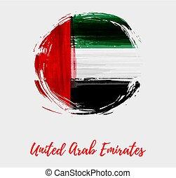 emirates árabes unidos, nacional, redondo, bandeira