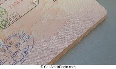 Emirates Visa Stamps In Russian Passport
