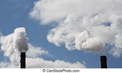 Emissions of harmful substances into atmosphere.