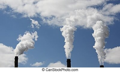 Emissions of harmful substances. Thermal Power Plant Pipes....