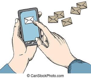 emitindo mensagens