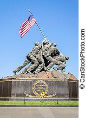 emlékmű, alakulat, (iwo, háború, tengeri, jima, memorial)