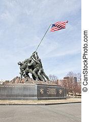 emlékmű, egyesült, alakulat, egyesült államok, tengeri, ...