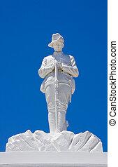 emlékmű, soldier., ausztrál