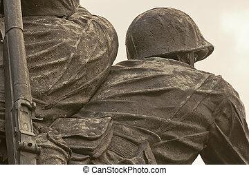emlékmű, tengeri, bennünket, alakulat, háború