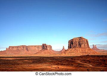 emlékmű völgy, navajo, arizona, nemzet