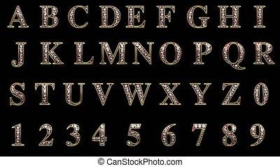 emmêlé, alpha, diamants, boucle, alphabet
