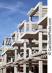 emmagasiner construction, appartement, moderne, sous