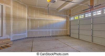emmagasiner construction, nouveau, sous, garage