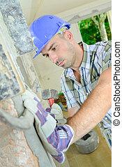 emmagasiner construction, ouvrier