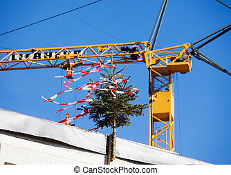 emmagasiner construction, site, toit, même