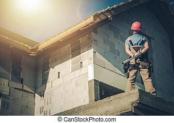 emmagasiner construction, surveiller