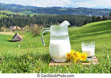 emmental, 水差し, milk., スイス, 地域