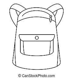 Emmo backpack icon, outline style