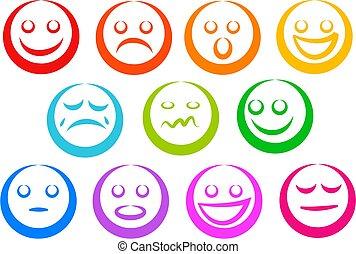 emoção, ícones