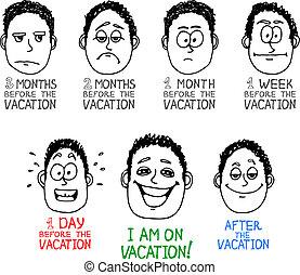 emoção, caricatura, rosto