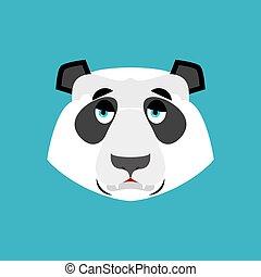 emoção, emoji., chinês, isolado, urso, triste, tristeza,...