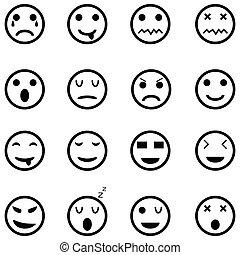 emoção, jogo, ícone