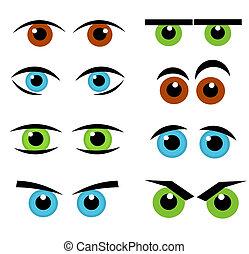 emoção, olhos, cobrança