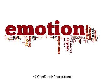 emoção, palavra, nuvem