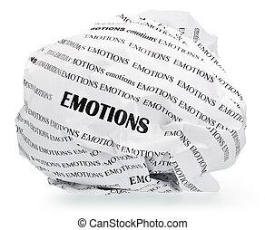 emoções, pregas