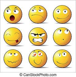 emoções, sorrisos