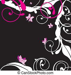 emo foliage vector illustration
