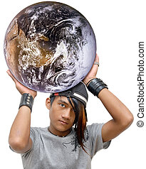 Emo global power - Asian emo, goth or punk teen with long ...
