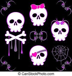 Emo skulls
