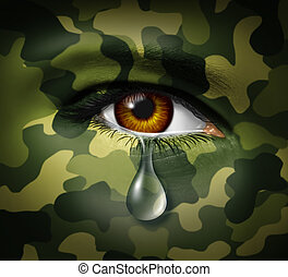 emocional, énfasis, guerra