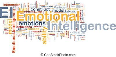emocional, inteligência, fundo, conceito