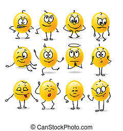 emociones, vector, smiley