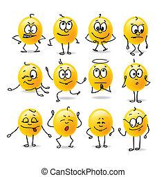 emociones, vector, smiley