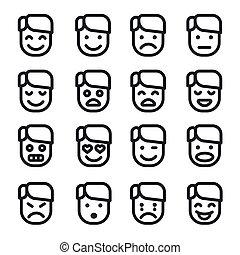 emoji, セット, アイコン