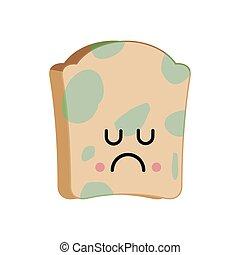 emoji., alimento, ilustración, triste, vector, asqueroso, ...