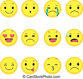 emoji, ausdruck, sammlung