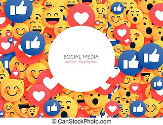 emoji background smiley icons for social media