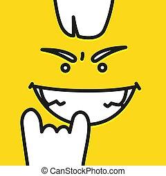 Emoji cool smiley face vector design art.