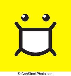 emoji, enmascarado, vector